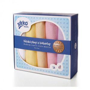 KIKKO Bavlněné pleny XKKO Organic 70x70cm Staré časy Pastels pro holky