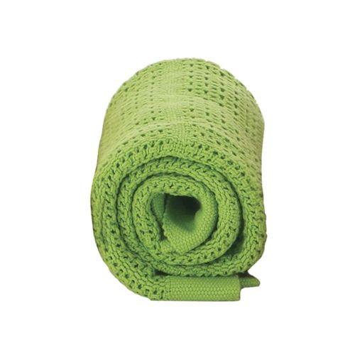 Baby Dan háčkovaná bavlněná deka Zelená limetka