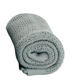 Baby Dan bavlněná háčkovaná deka, šedá