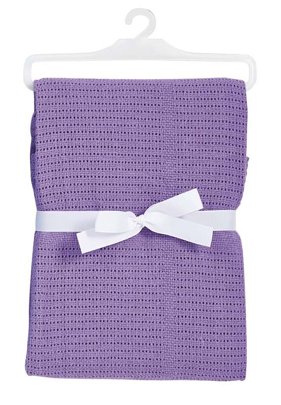 Baby Dan háčkovaná deka fialovaá