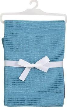 Baby Dan háčkovaná deka tyrkysová bavlněná