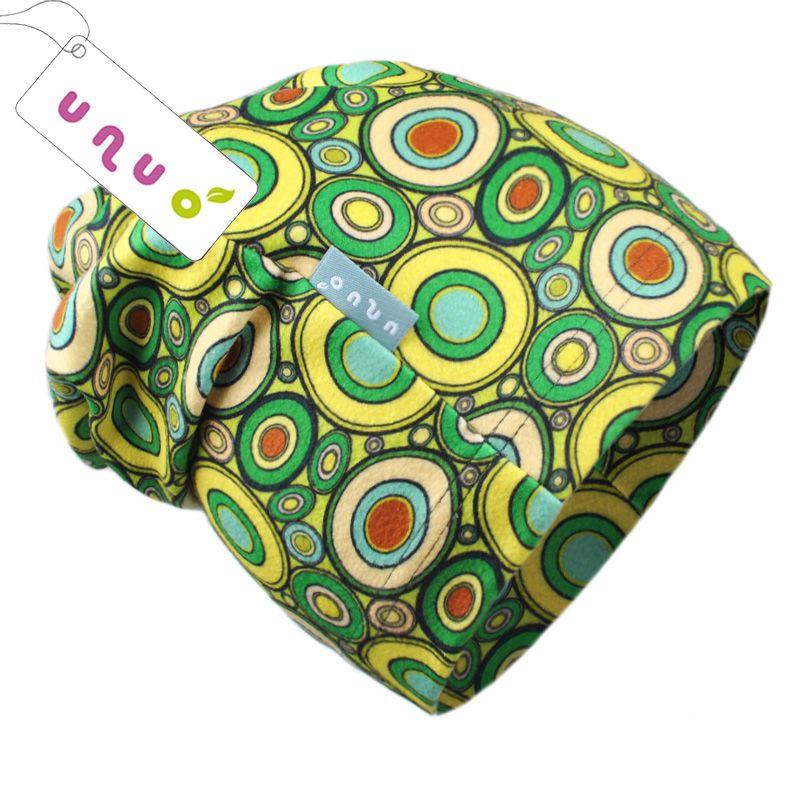 Unuo fleecová čepice Circle, zelená