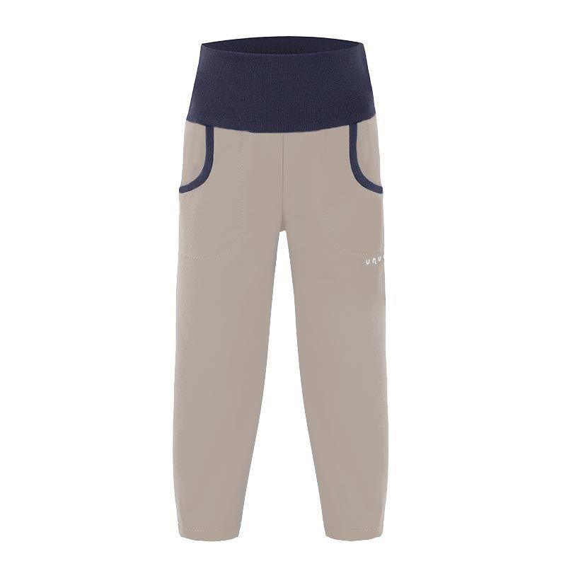 Unuo letní softshellové kalhoty šedobéžové vel. 86-98