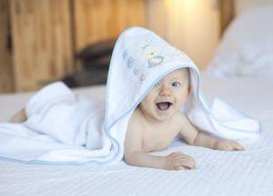 INTERBABY Osuška froté BABY bílo-modrá