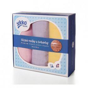 Osušky z biobavlny XKKO Organic 90x100 - Staré časy Pastels For Girls
