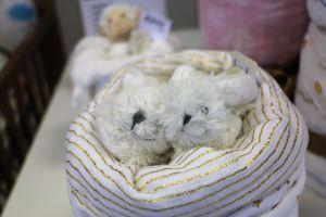 Plenkový dort z látkových plen, zavinovačky s bačkůrkami