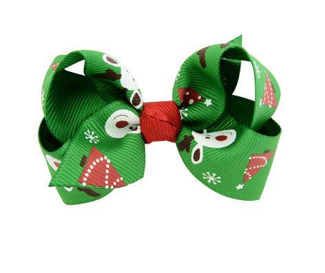 Baba+Boo sponka do vlásků vánoční zelená