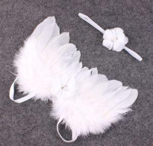 Set na focení andělská křídla s čelenkou, bílý