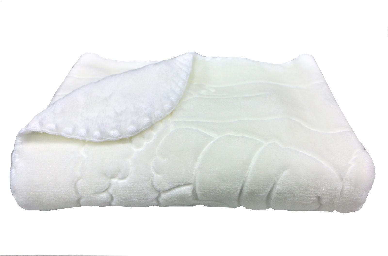 Španělská deka BABY PERLA 517, bílá