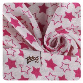 Bambusové pleny XKKO BMB 70x70 - Little Stars Magenta detail