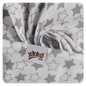 Bambusové pleny XKKO BMB 70x70 - Little Stars Silver MIX - detaii