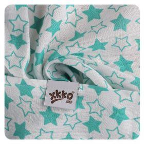 Bambusové pleny XKKO BMB 70x70 - Little Stars Turquoise detail