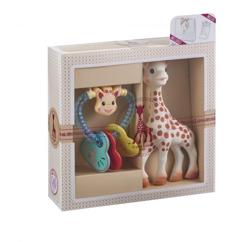 Vulli Můj první dárkový set - žirafa Sophie & chrastítko