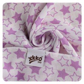 Bambusová osuška XKKO BMB 90x100 - Little Star Lilac Kikko