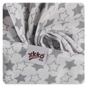 Bambusová osuška XKKO BMB 90x100 - Little Star Silver Kikko
