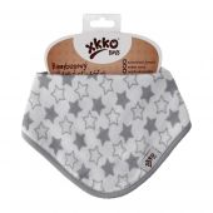 Bambusový dětský slintáček/šátek XKKO BMB - Little Star Silver