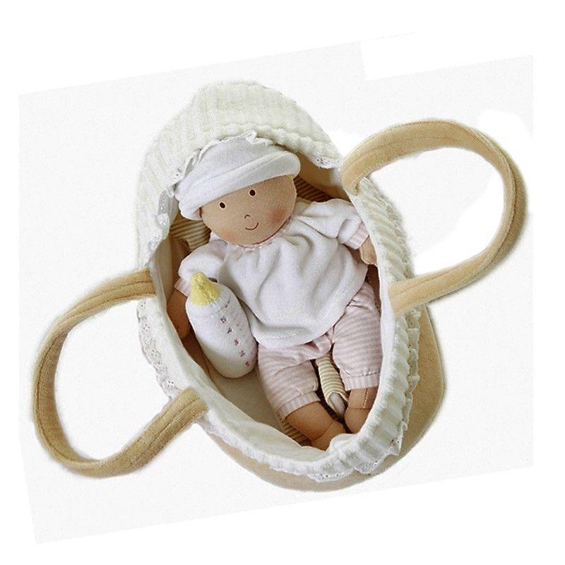 Bonikka látková bábika v košíku