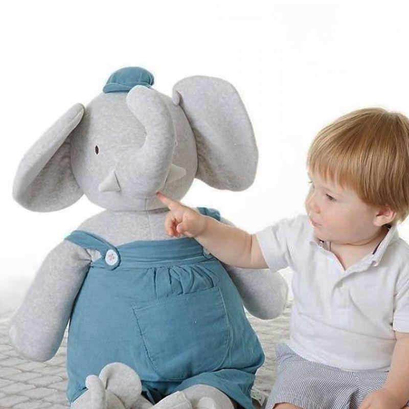 MEIYA&ALVIN  XXL velká plyšová hračka sloník Alvin