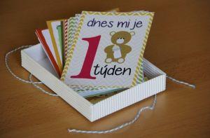 Milníkové kartičky pro chlapečka 24 ks
