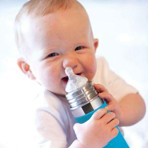 Pura® nerezová kojenecká láhev 325 ml, AQUA