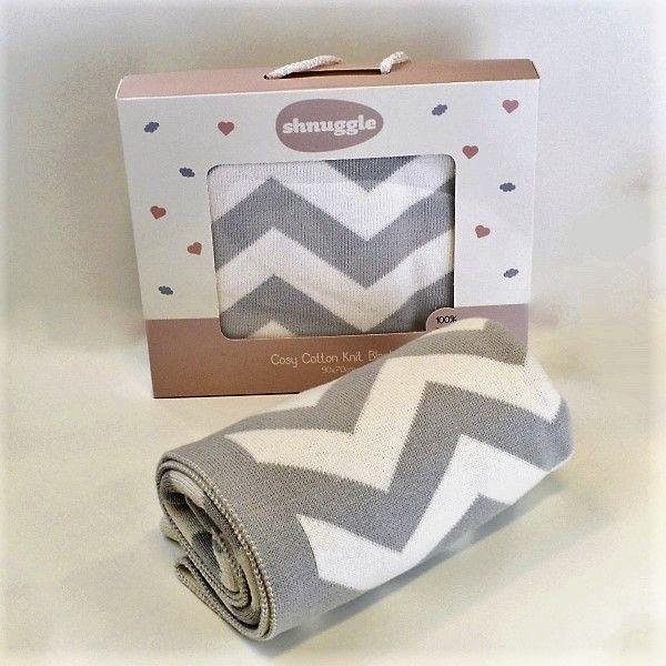 SHNUGGLE Luxusní bavlněná pletená deka růžová