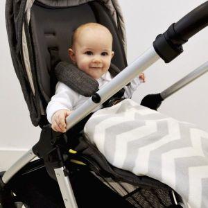 SHNUGGLE Luxusní bavlněná pletená deka šedá