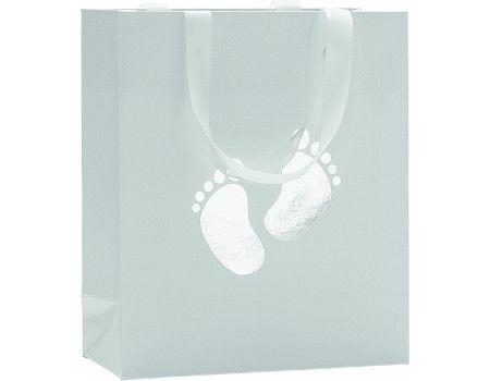 Stewo dárková taška Little Boy 18x8x21 ,Uni stříbrná