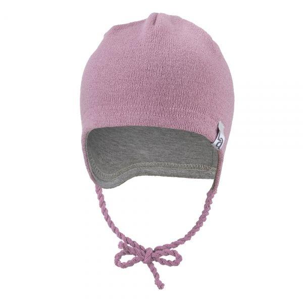 ANGEL čepice pletená zavazovací OUTLAST®, stř.růžová