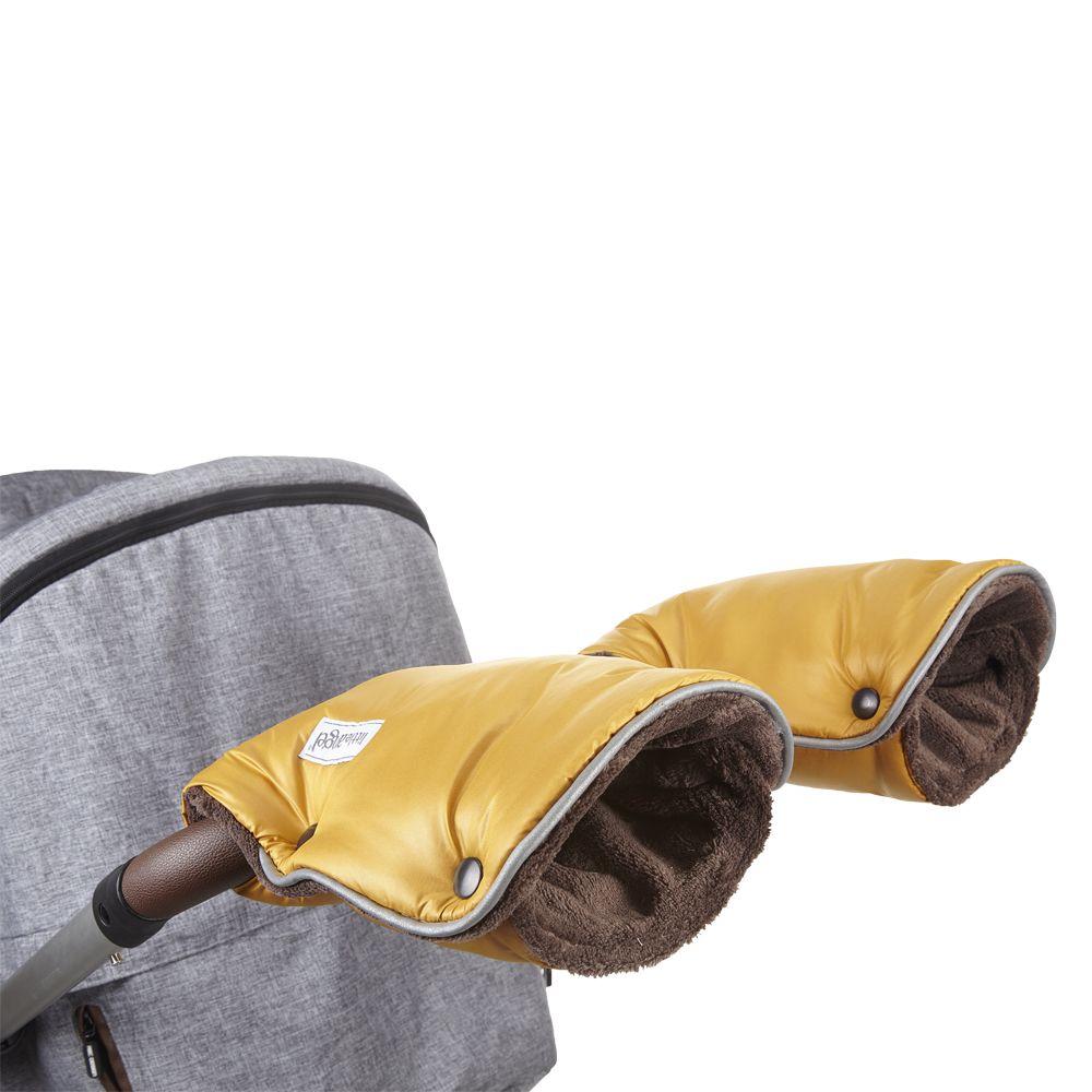 Angel rukavice na kočár Mazlík zlatá/hnědá