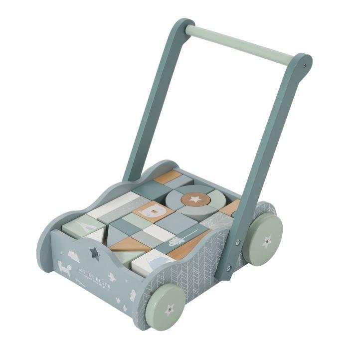 TIAMO Little Dutch vozík s kostkami, BLUE