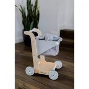 KINDSGUT Dřevěný nákupní vozík šedá