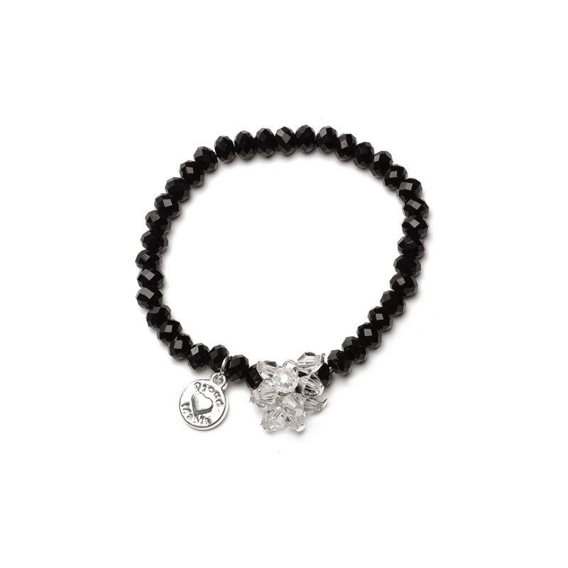 Proud MaMa náramek Charm černý Beads