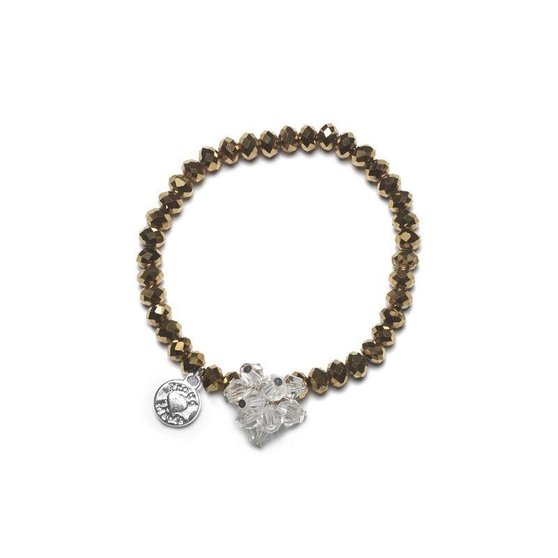 Proud MaMa náramek Charm zlatý Beads