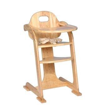 TIAMO dětská dřevěná jídelní židlička, přírodní