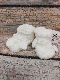 Pletené bačkůrky bílé