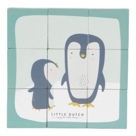 TIAMO Little Dutch kostky skládací obrázky - tučňák