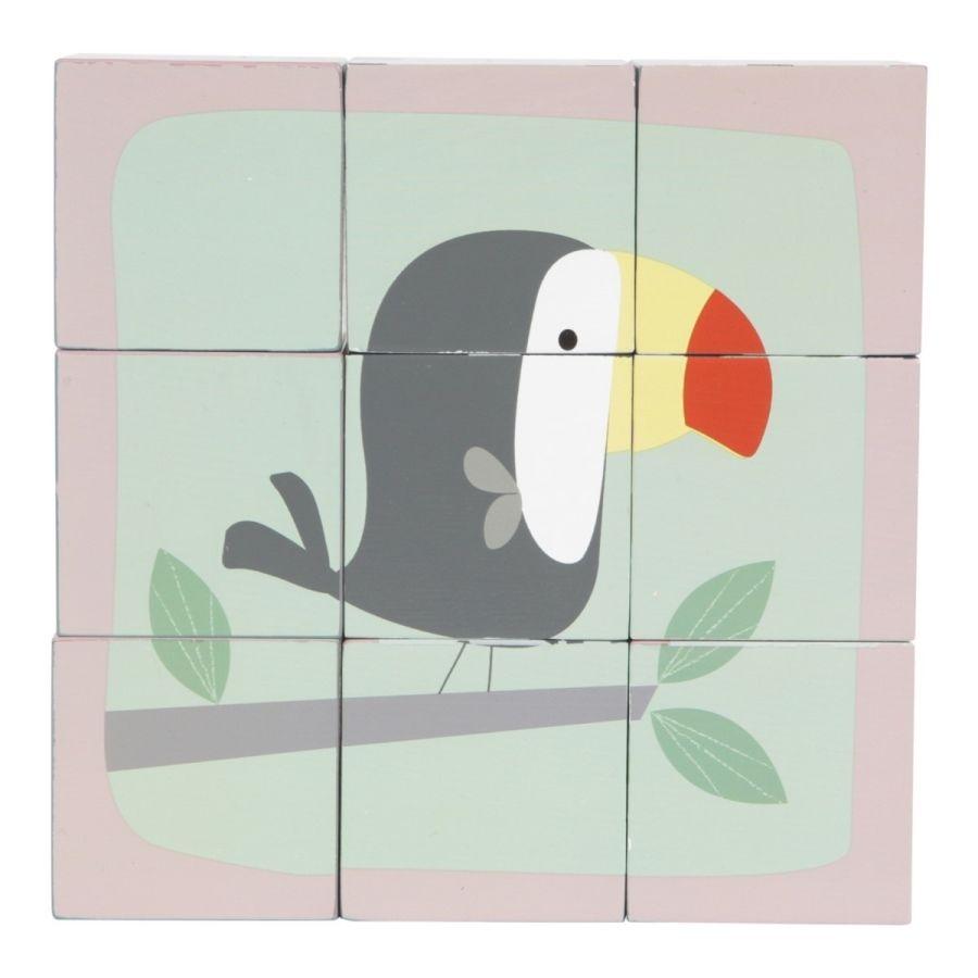 TIAMO Little Dutch kostky skládací obrázky - tukan