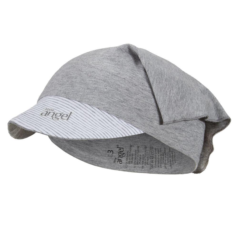Little angel šátek tenký kšilt Outlast® - šedý melír/pruh bílošedý melír