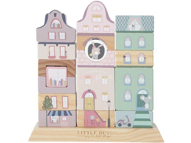 TIAMO stavebnicové kostky Little Dutch bílá/růžová