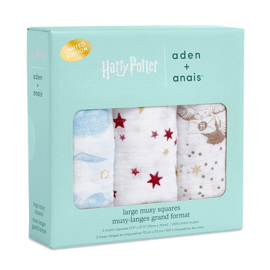 Aden+Anais mušelínové pleny 3 ks, Harry Potter v dárkové krabičce