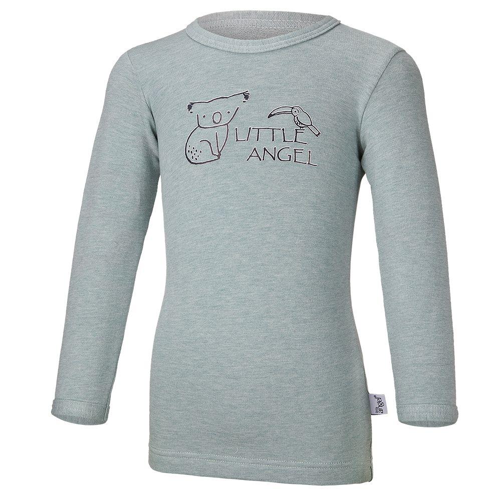 Little Angel Tričko smyk KOALA Outlast® - lišejník melír
