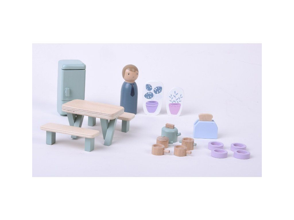 Little Dutch Dřevěný nábytek pro panenky kuchyňka Litte Dutch