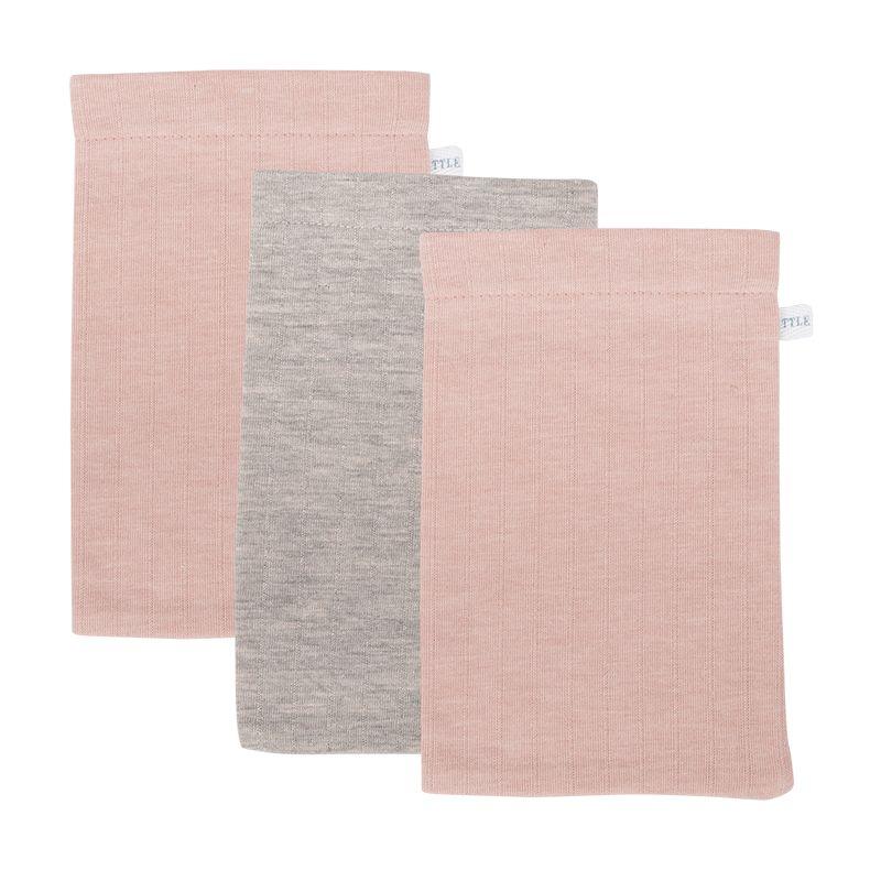 Little Dutch Žínky 3ks Pure Pink/Grey