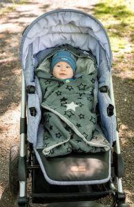 Angel Zavinovačka multifunkční HVĚZDA Outlast® - šedý melír Little Angel