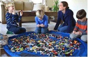 Hrací voděodolná podložka / vak na hračky 150 cm