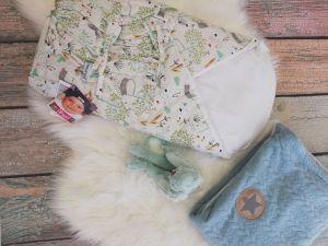 ittle Angel Zavinovačka šněrovací pevná - Outlast® -barevná kočka a Luxusní deka Angel
