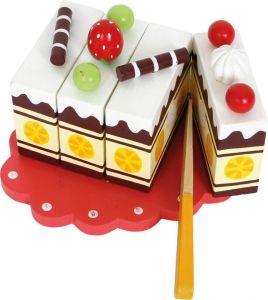 Small Foot Dřevěný narozeninový krájecí dort
