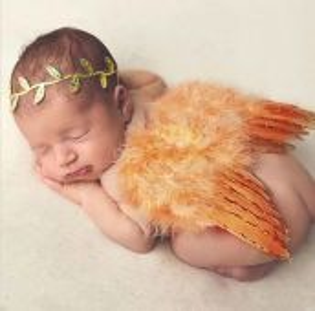Set andělská křídla s čelenkou, Gold