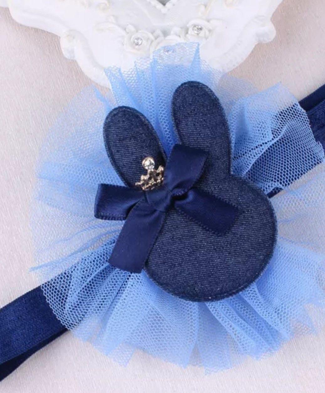 Čelenka do vlásků Bunny tmavě modrá
