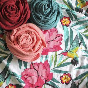 Tommy Lise Bambusová mušelínová plena Flowery Grace 120x120cm